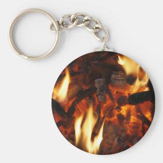 Llavero con el fuego ardiente