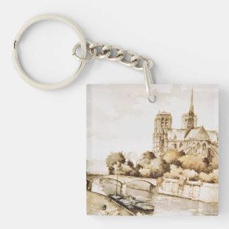"""Llavero con """"imagen de la catedral de Notre Dame"""""""