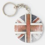 Llavero con la bandera de Gran Bretaña del vintage