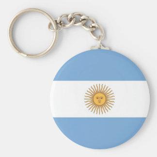 Llavero con la bandera de la Argentina
