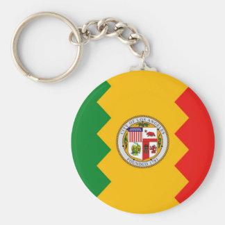 Llavero con la bandera de Los Ángeles, California