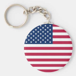 Llavero con la bandera de los E.E.U.U.