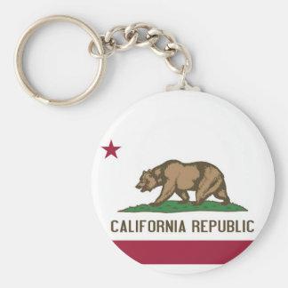 Llavero con la bandera del estado de California