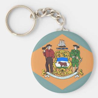 Llavero con la bandera del estado de Delaware