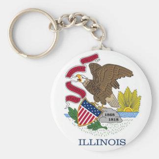 Llavero con la bandera del estado de Illinois