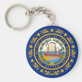 Llavero con la bandera del estado de New Hampshire