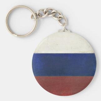 Llavero con la bandera sucia del vintage de Rusia