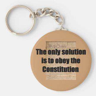 Llavero con la solución de /The de la constitución