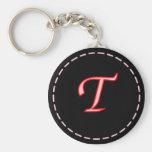 Llavero con monograma de la letra T