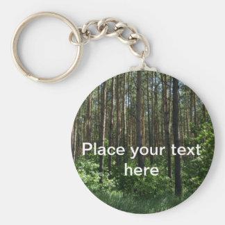 Llavero conífero verde de los árboles forestales