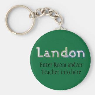 Llavero conocido de la etiqueta de Landon