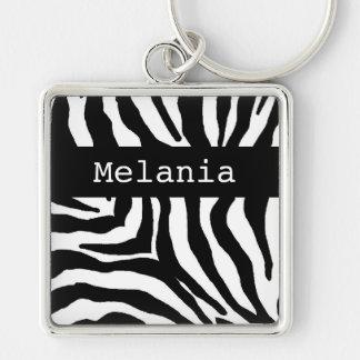 Llavero conocido personalizado estampado de zebra
