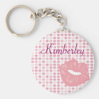 Llavero conocido personalizado - labios rosados