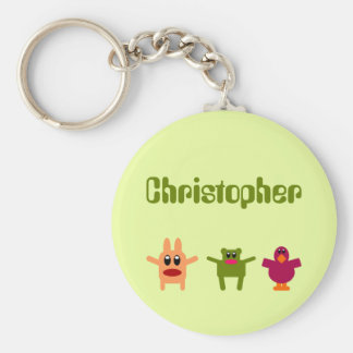Llavero conocido verde Christopher de los monstruo