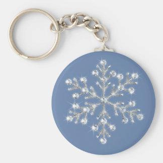 Llavero cristalino del copo de nieve