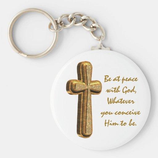 Llavero cristiano de la cruz 3D