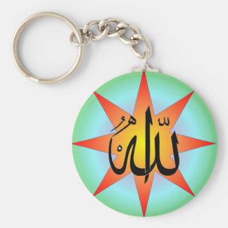 Llavero cuadrado de Alá Sun