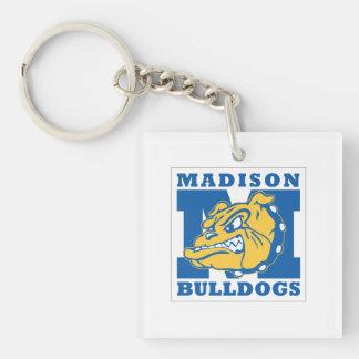 Llavero cuadrado de los dogos de Madison