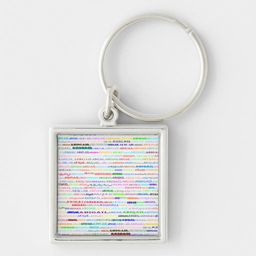 Llavero cuadrado del premio del diseño II del text