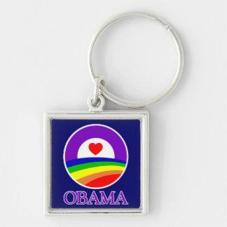 Llavero cuadrado - orgullo de Obama
