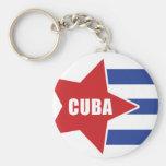 llavero cubano de la bandera