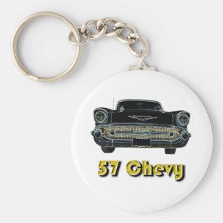 'Llavero de 57 Chevy Llavero Redondo Tipo Pin