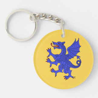 Llavero de acrílico (azul) desenfrenado del dragón