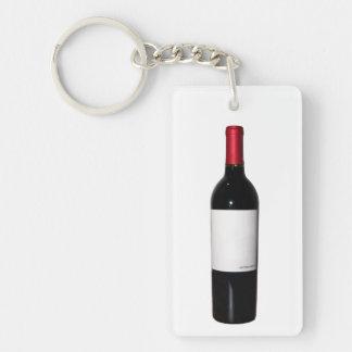 Llavero de acrílico de la botella de vino