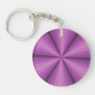 Llavero de acrílico púrpura de la ilusión óptica