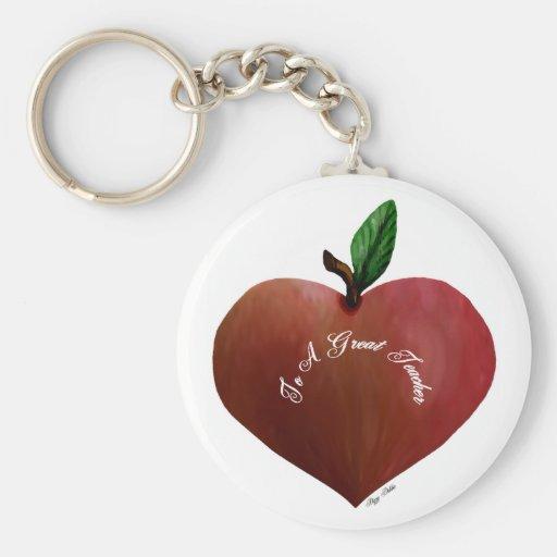 Llavero de Apple del corazón del profesor