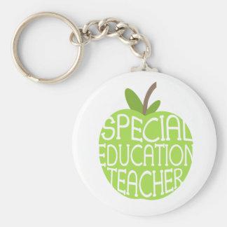 Llavero de Apple del verde del profesor de la educ