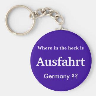 Llavero de Ausfahrt Alemania