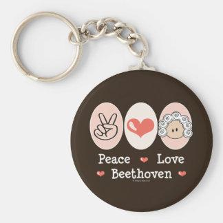 Llavero de Beethoven del amor de la paz