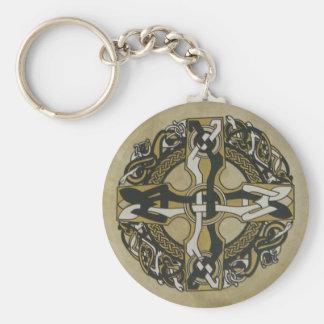 Llavero de Bodhran de la cruz céltica
