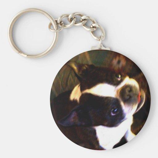 Llavero de Boston Terrier