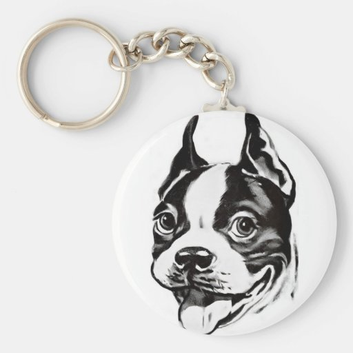 Llavero de Boston Terrier