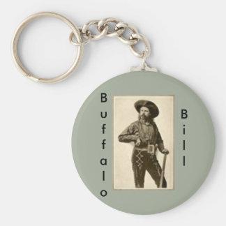 """""""Llavero de Buffalo Bill """" Llavero Redondo Tipo Pin"""
