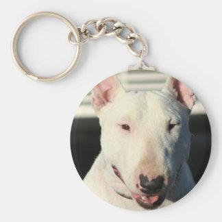 Llavero de bull terrier