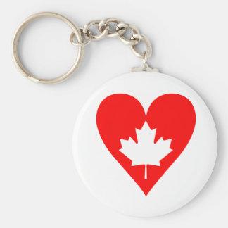 Llavero de Canadá del amor