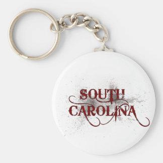 Llavero de Carolina del Sur del Grunge de la sangr
