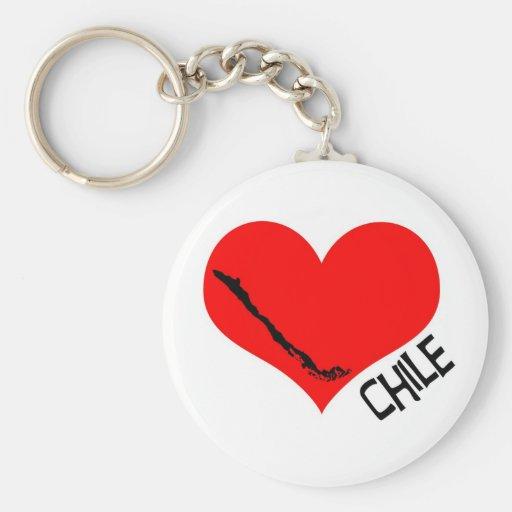 Llavero de Chile del corazón