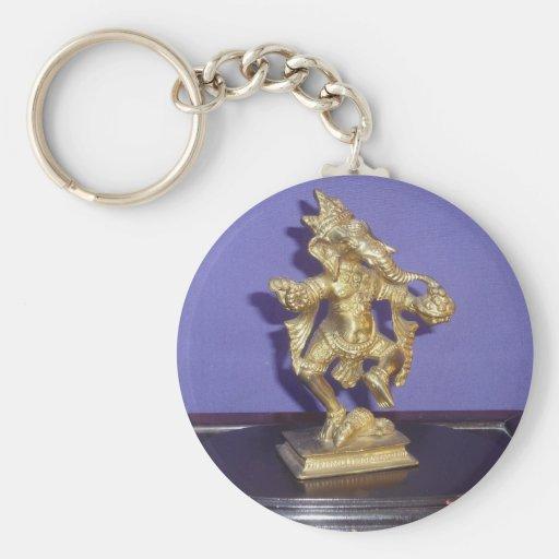 Llavero de cobre amarillo de Ganesha