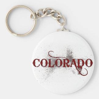 Llavero de Colorado del Grunge de la sangría
