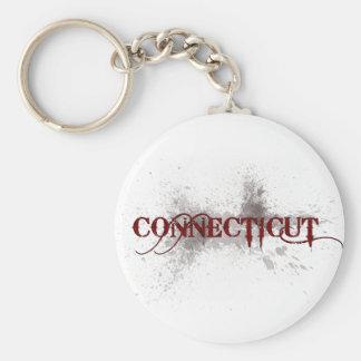 Llavero de Connecticut del Grunge de la sangría