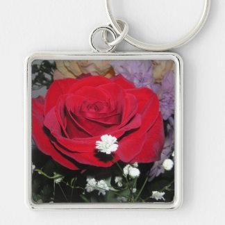 Llavero de CricketDiane de las flores del rosa roj