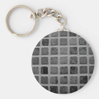 Llavero de cristal geométrico del mosaico