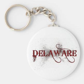 Llavero de Delaware del Grunge de la sangría