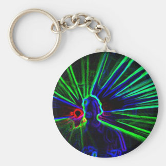 Llavero de DJ y de las luces laser
