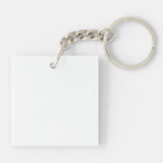 Llavero (de doble cara) del cuadrado de la