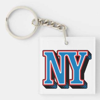 Llavero (de doble cara) del cuadrado de NY Nueva